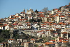 The village of Arachova - 0074535. The village of Arachova is a winter resort area located in the middle part of Greece Stock Image