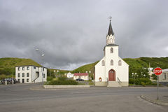 Village arctique image stock