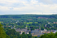 Village in the ardennes (belgium) Stock Photography