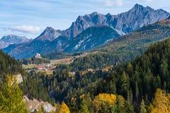 The village of Ardez, Graubunden in Switzerland royalty free stock images