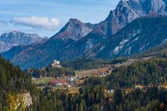 The village of Ardez, Graubunden in Switzerland stock photo