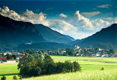The village of Ashau near Chiemsee Royalty Free Stock Image