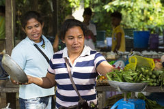 Village Asian market Stock Images