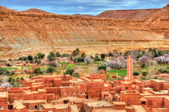 Village in the Asif Ounila valley in the High Atlas Mountains, Morocco Stock Photo