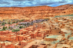 Village in the Asif Ounila valley in the High Atlas Mountains, Morocco Stock Images