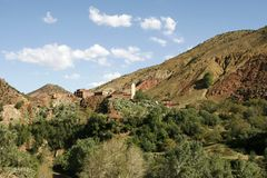 Village in the Atlas Mountains, Morocco Royalty Free Stock Images