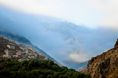 Village in the atlas mountains, morocco. Scenic image of village in atlas mountains Royalty Free Stock Photography