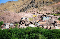 Village in the atlas mountains, morocco Royalty Free Stock Photos