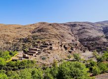 Village in Atlas Mountains, Morocco Royalty Free Stock Photo