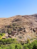 Village in Atlas Mountains, Morocco Royalty Free Stock Images