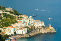 The village of Atrani Royalty Free Stock Images