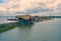 Village au Bangladesh Photo stock