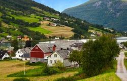 Village au fleuve Images libres de droits