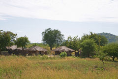 Village au Malawi rural Photo stock