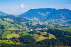 Village in the Austrian Alps Royalty Free Stock Photos