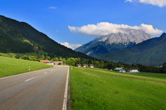 Village in Austrian mountains, Alps Stock Images