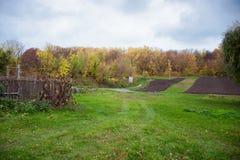 Village. Autumn scenery of the village Stock Photography