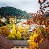 Village in autumn Stock Photo