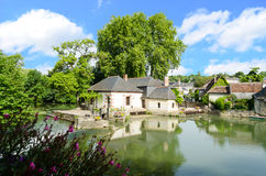 Village of Azay-le-Rideau – France Royalty Free Stock Images