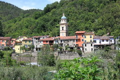 Village in the back country of Liguria, Italy Royalty Free Stock Photos