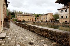 Village of Bagno Vignoni, Tuscany Stock Photography