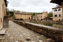 Village of Bagno Vignoni, Tuscany stock photography