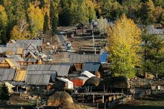 Village Baihaba in Autumn Royalty Free Stock Photo