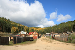 Village on Baikal lake Stock Photo