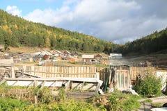 Village on Baikal lake Royalty Free Stock Photography