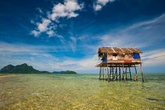 Village of Bajau Sea Gypsies Stock Photos
