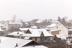 The village of Bakuriani-Georgia Royalty Free Stock Photography
