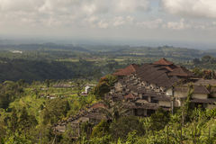 Village in Bali Indonesia. A typical village in Bali Indonesia.  It's a beautiful panorama of the country side Royalty Free Stock Images