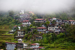 Village Banaue, Ifugao province Philippines. Village Banaue, northern Luzon, Ifugao province Philippines. The world heritage Rice terraces in Banaue Royalty Free Stock Photos