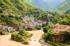 Village at the bank of ganges river Royalty Free Stock Photos