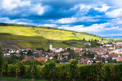 Village of Barr in Alsace. Beautiful village of Barr in Alsace, France in autumn royalty free stock images