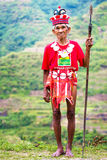 The village of Batad, Philippines March 3, 2015. Close-up portra Royalty Free Stock Images
