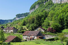 The village of Baume-les-Messieurs Royalty Free Stock Image