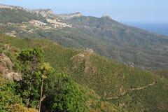 The village of Baunei on the island of Sardinia Stock Image
