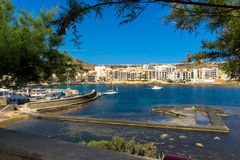 Village and bay of Marsalforn. Marsalforn (Marsa el-Forn) is a village on the north coast of Gozo, the second largest island of the Maltese archipelago Royalty Free Stock Photography