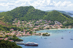Village and bay of Terre-de-Haut, Les Saintes. Island, Guadeloupe archipelago Stock Image