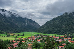 The village Bayrischzell in mountains of Alps, Bavaria Germany Stock Photo