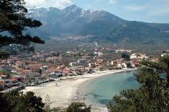 Village on the beach Stock Photo