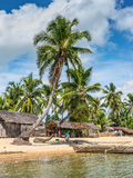 Village on the beach in Madagascar Stock Photography
