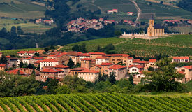 Village in Beaujolais region,  Royalty Free Stock Image