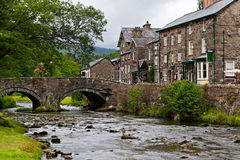 The village of Beddgelert Royalty Free Stock Photo