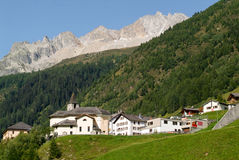 Village of Bedretto on the italian part of the Swiss alps Stock Images