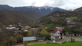 Village behind the monastery complex Goshavank near Dilijan Northern Armenia stock photo