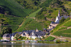 Village Beilstein at Mosel River royalty free stock images