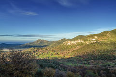 The village of Belgodere in Corsica Royalty Free Stock Image