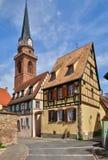 Village of Bergheim  in Alsace Stock Photos